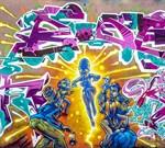 Фотообои DIVINO DECOR B-023 Граффити дэнс 300х270см - фото 15812