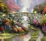 Фотообои DIVINO DECOR B-045 Волшебный мост живопись 300х270см - фото 16126