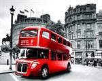 Фотообои DIVINO DECOR C-389 красный автобус 300х238см - фото 16713