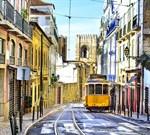 Фотообои DIVINO DECOR C-138 Желтый трамвай 300х270см - фото 17705