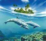 Фотообои DIVINO DECOR C-020 Дельфины 300х270см - фото 18581
