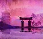 Фотообои DIVINO DECOR D-095 Храм Япония 300х270см - фото 18889