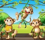 Фотообои DIVINO DECOR C-075 Три обезьянки 300х270см - фото 20549