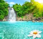 Фотообои DIVINO DECOR E-049 Водопад в лучах солнца 300х270см - фото 21127