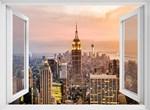 Фотообои DIVINO DECOR H-024 Окно с видом на город 200х147см - фото 21841