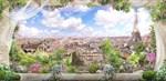 Фотообои DIVINO DECOR H-019 Вид с балкона на Париж 300х147см - фото 21886