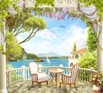 Фотообои DIVINO DECOR H-013 Кресла на балконе 300х270см - фото 21895