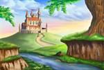 Фотообои DIVINO DECOR H-055 Замок на рассвете 400х270см - фото 22350