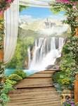 Фотообои DIVINO DECOR L-042 Замок у водопада 200х270см - фото 23583