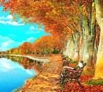 Фотообои DIVINO DECOR L-035 Осенний пруд 300х270см - фото 23858