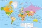 Фотообои DIVINO DECOR L-118 Мир Политическая карта 400х270см - фото 24503