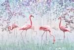Фотообои DIVINO DECOR T-260 Фламинго в лесу 400х270см - фото 24760