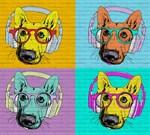 Фотообои DIVINO DECOR L-080 Собаки поп арт 300х270см - фото 24896